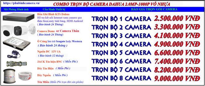 bảng báo giá camera