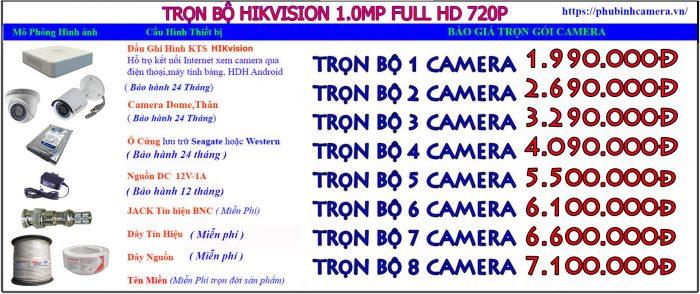 bảng báo giá camera hikvision1.0 lắp đặt camera cửa hàng