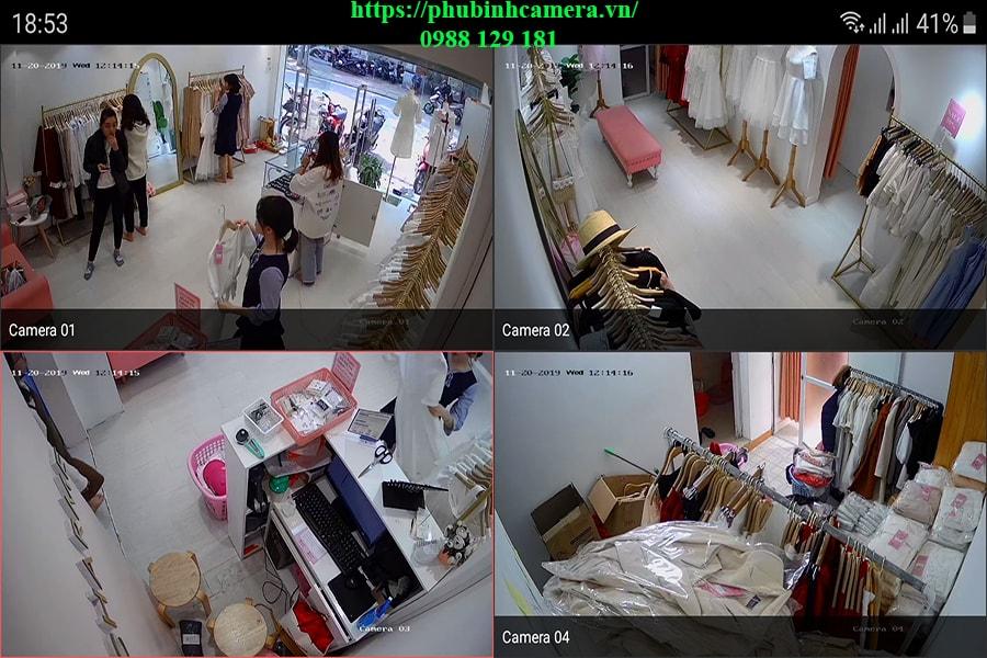 demo hình ảnh ban ngày lắp đặt bộ camera hikvision 2.0mp