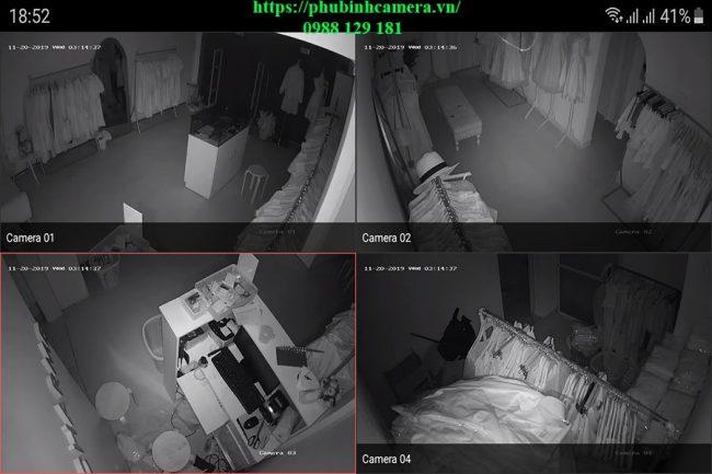 demo hình ảnh ban đêm lắp đặt bộ camera hikvision 1.0mp