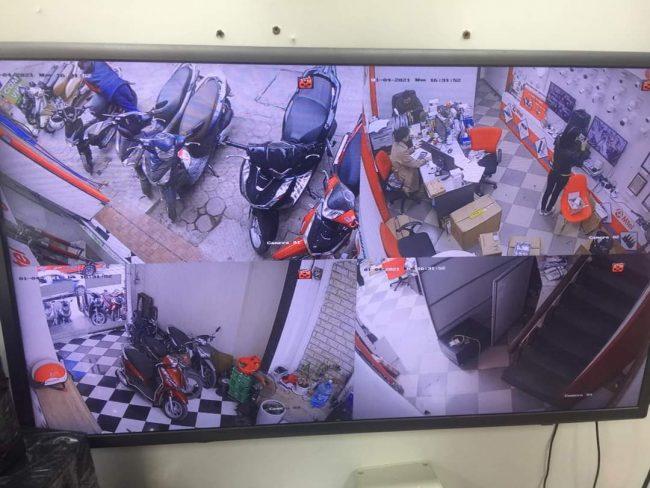 hình ảnh demo bộ hikvision 1.0 lắp đặt camera tại Nam Từ Liêm