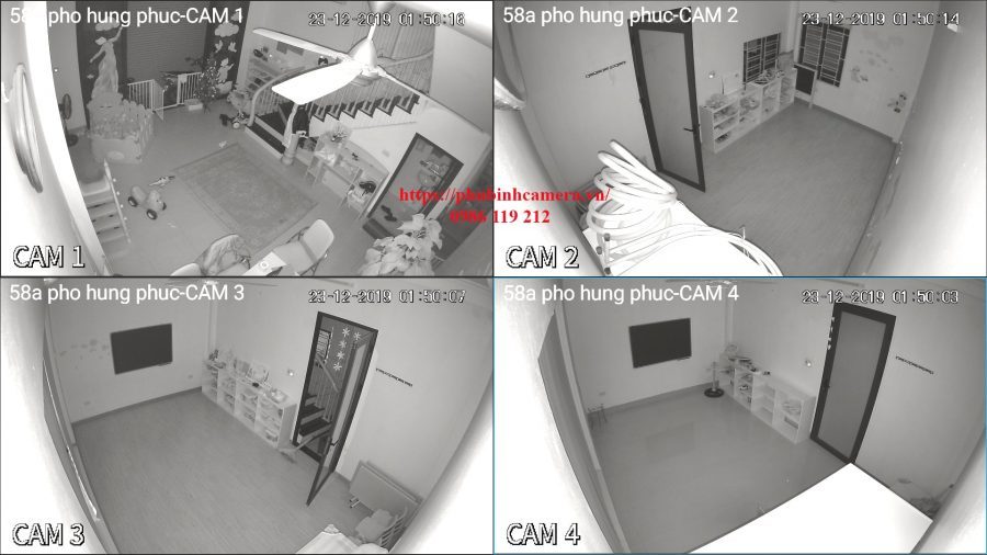 hình ảnh demo ban đêm bộ camera dahua 2.0MP vỏ nhựa