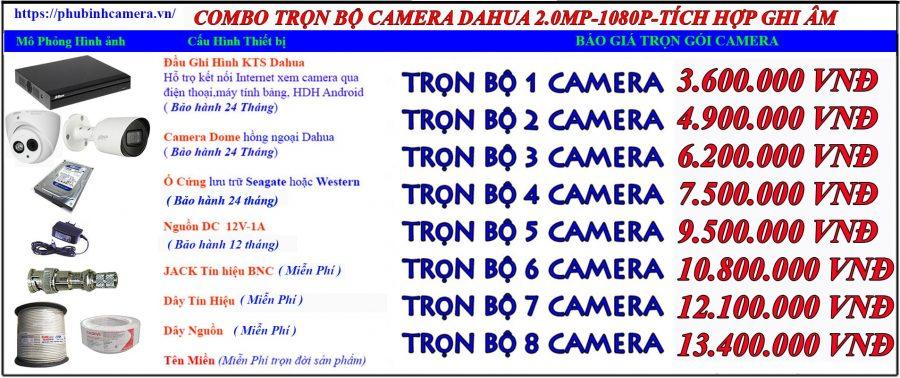 bảng báo giá lắp đặt trọn bộ camera dahua 2.0 tích hợp míc ghi âm